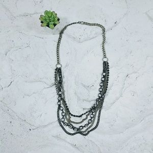 5 Strand Chunky Chain Link Statement Necklace